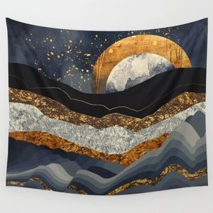 NEW! Urban Outfitters Metallic Mountains Tapestry